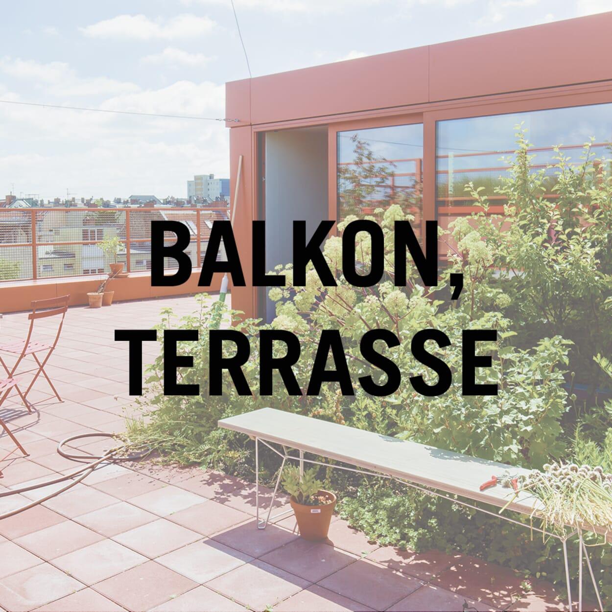 Balkon, Terrasse