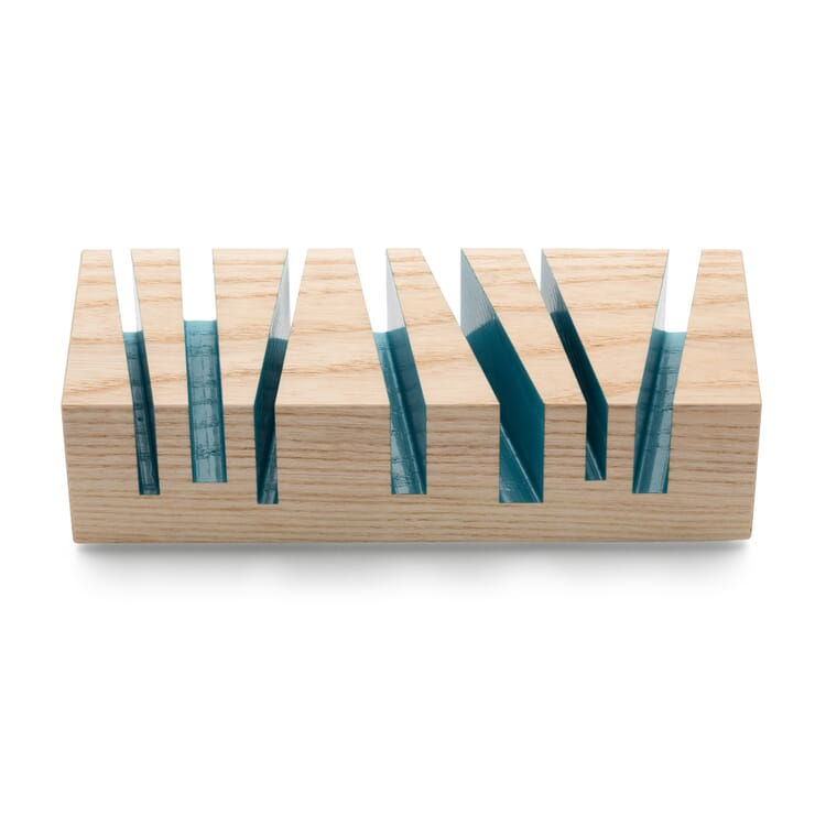 Papierablage Cuts, Eisblau