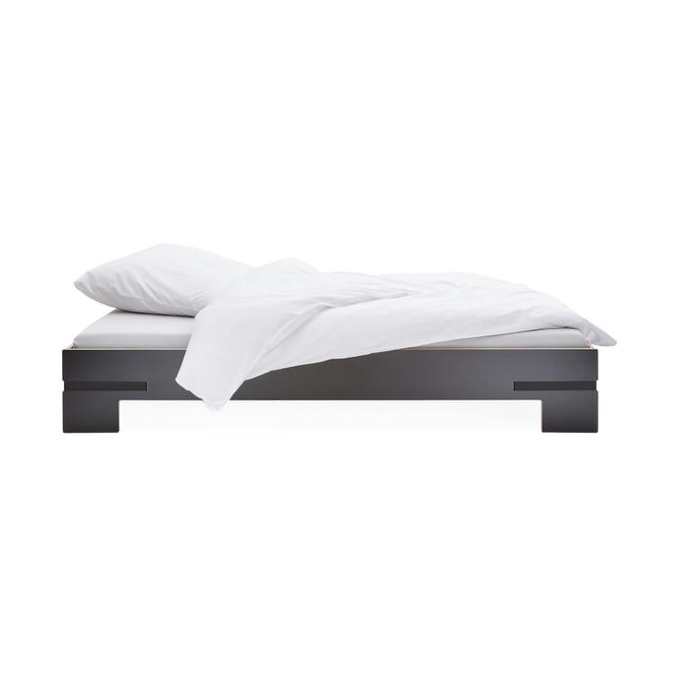 Bett Gurtbett schwarz, 180x200cm Gurte schwarz