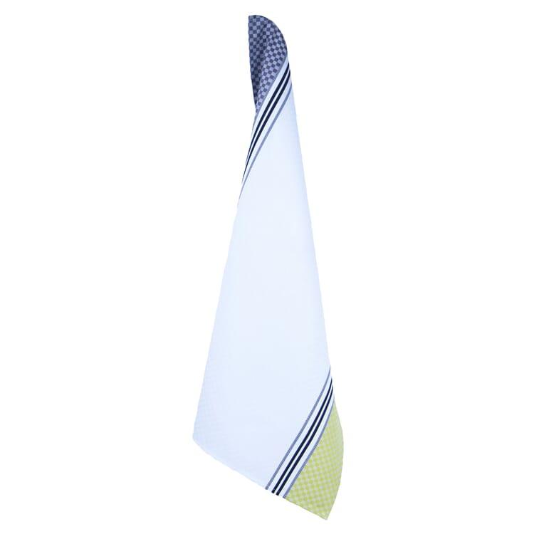 Geschirrtuch Karo, Weiß / Gelb