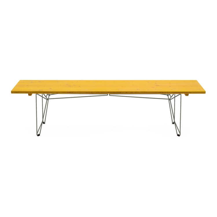 Tisch und Bank BTB Platte, Zinkgelb RAL 1018