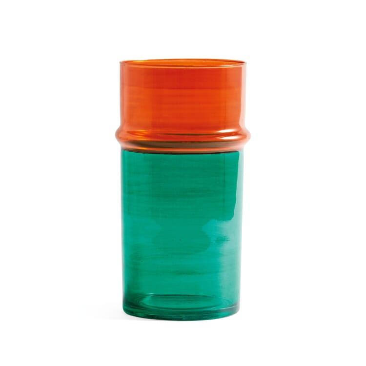 Vase Moroccan, groß, Grün/Orange