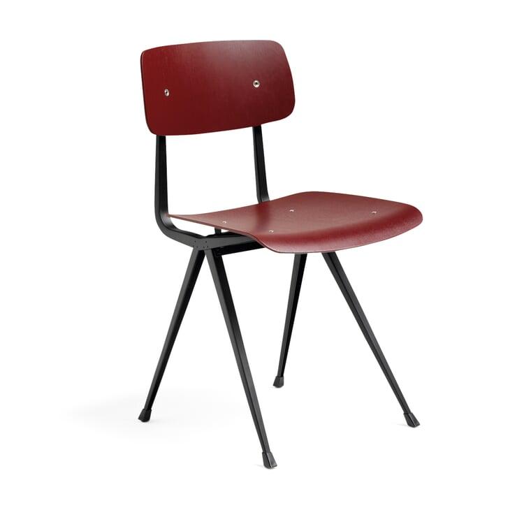 Stuhl Result Schwarz / Eiche, rot