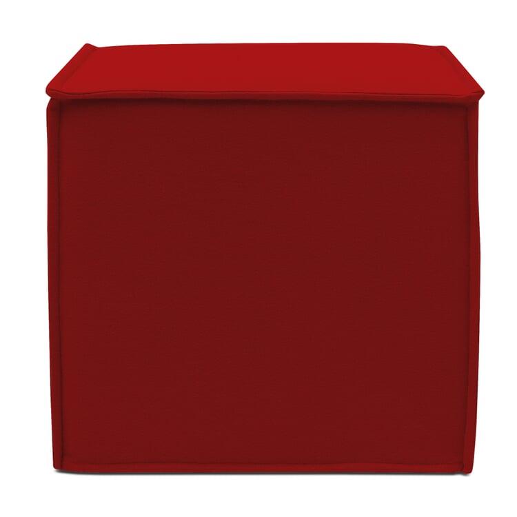 Würfelhocker Kubus Rot