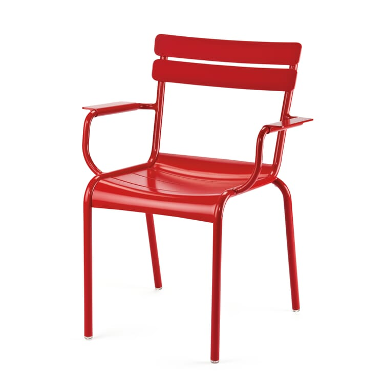 Fermob Gartenstuhl mit Armlehne Aluminium, Rot