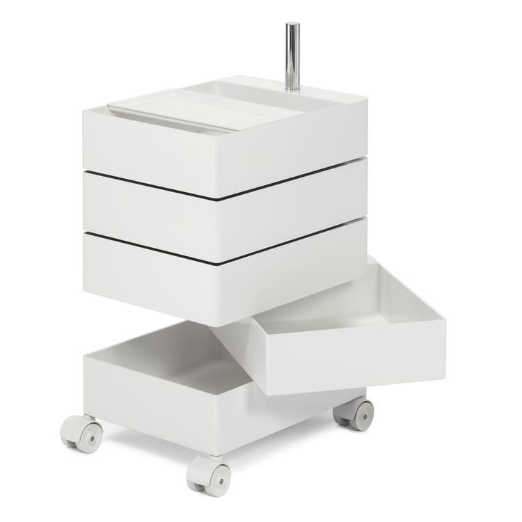 Container 360°, klein, Weiß