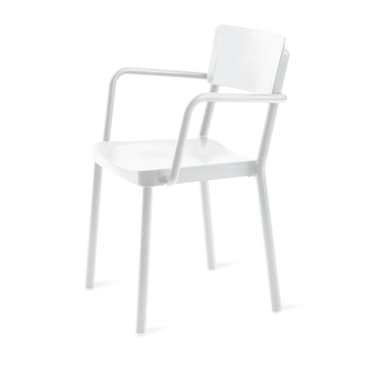 Armlehnstuhl Lisboa Weiß