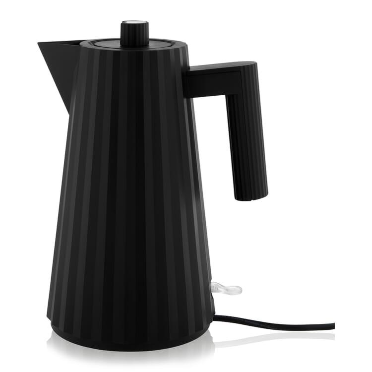 Wasserkocher Plissé, Schwarz
