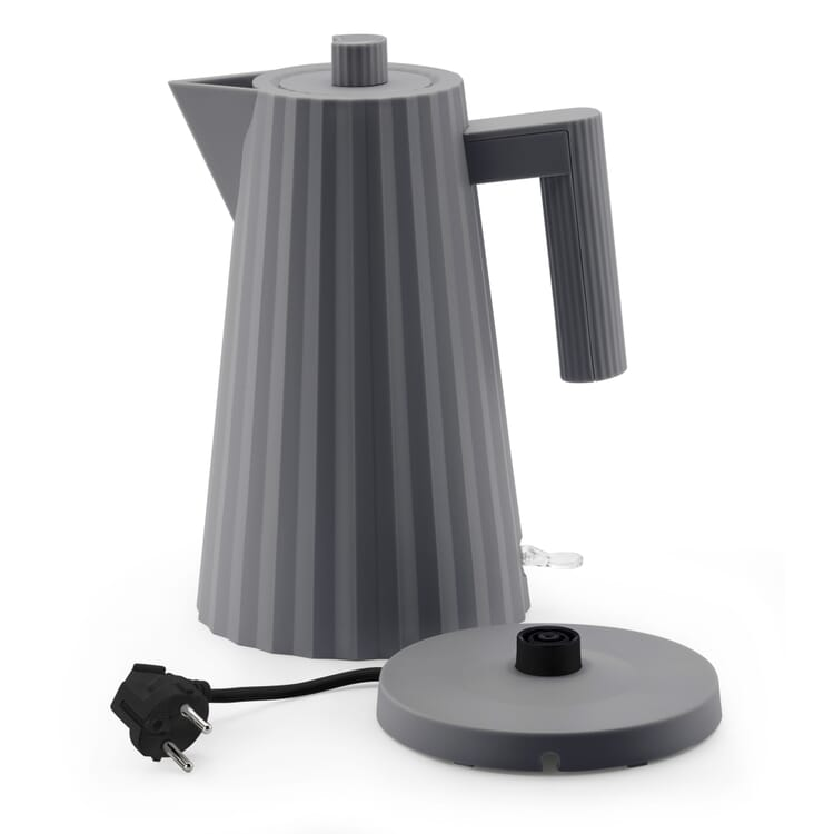 Wasserkocher Plissé, Grau