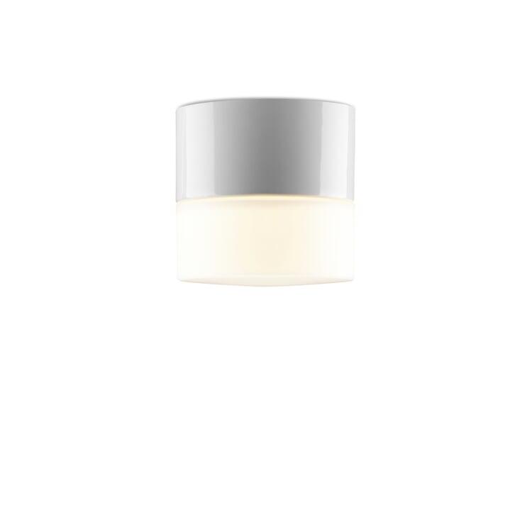 Wand- und Deckenleuchte Zylinder LED Eins Weiß / Matt