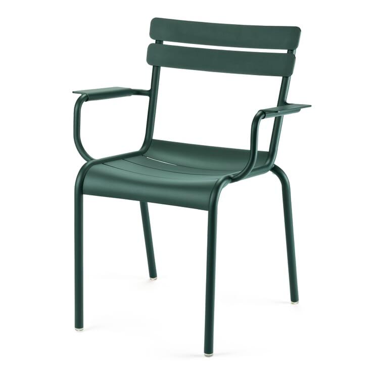Fermob Gartenstuhl mit Armlehne Aluminium, Grün