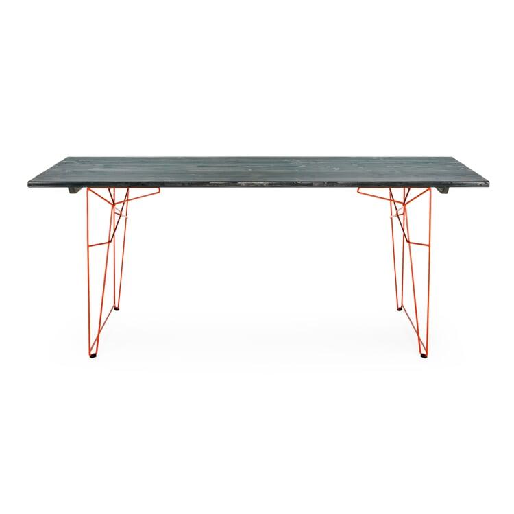 Tisch und Liege LTL Gestell Rotorange RAL 2001