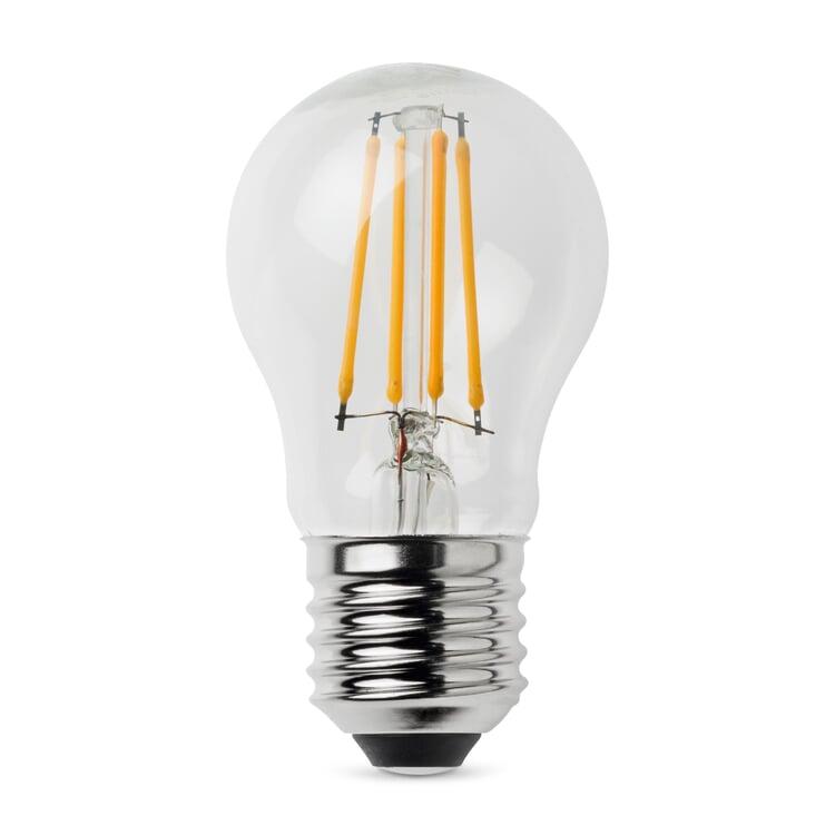 LED-Filament-Kugellampe E27 4,5 W Klar