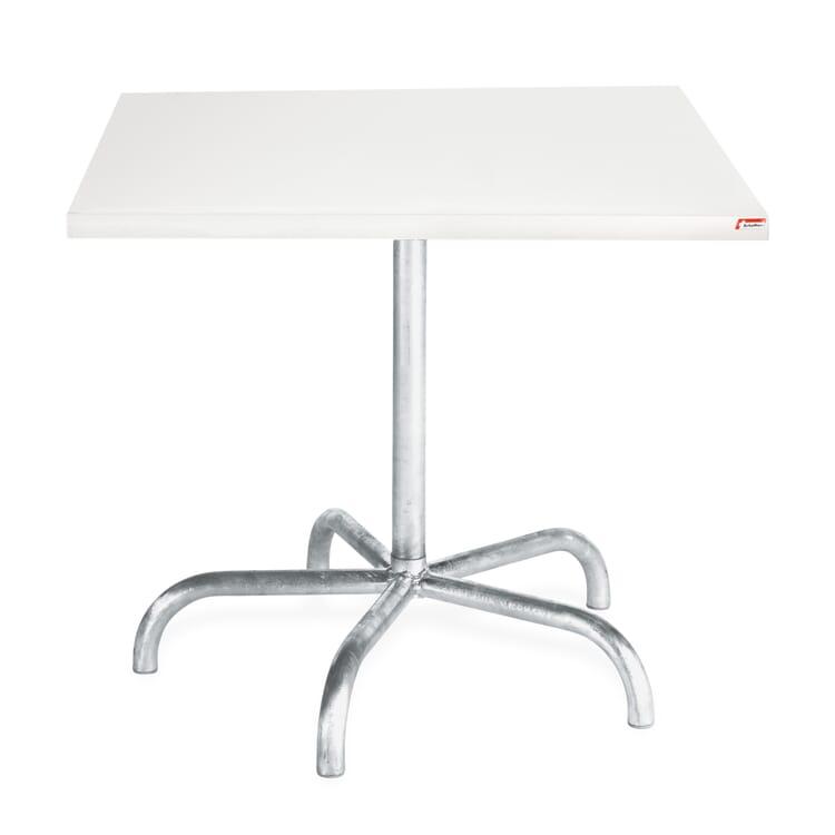Tisch Säntis, quadratisch, Verkehrsweiß RAL 9016