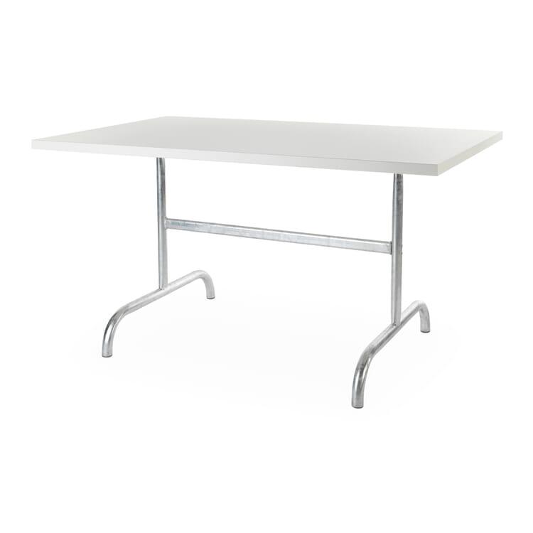 Tisch Säntis, rechteckig, Verkehrsweiß RAL 9016