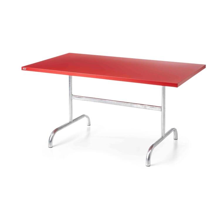 Tisch Säntis, rechteckig, Signalrot RAL 3001