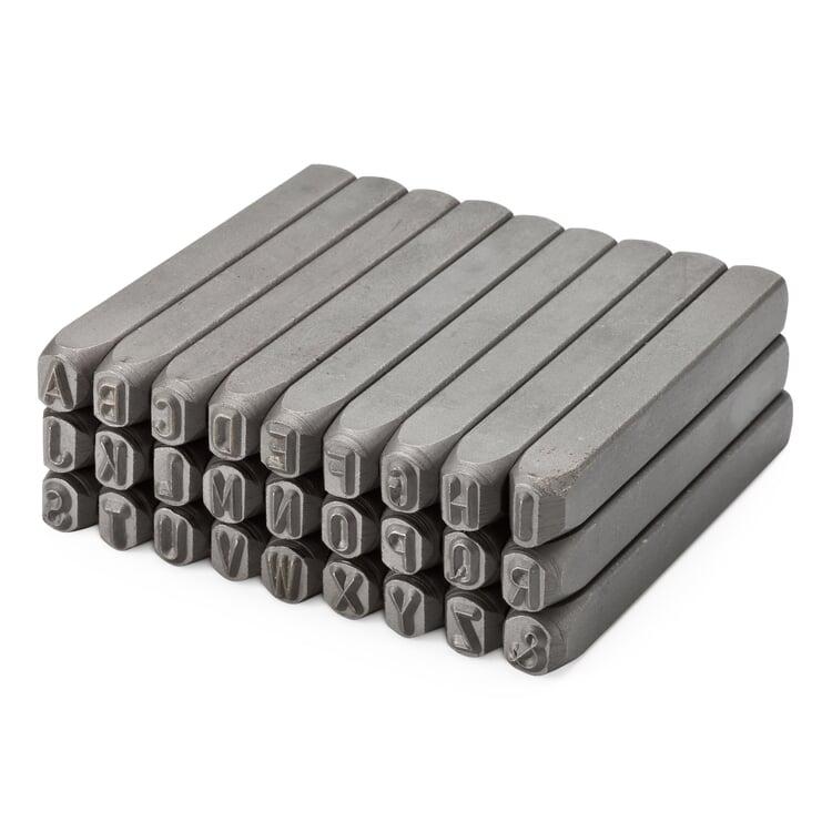 Schlagstempel Stahl 26 Großbuchstaben