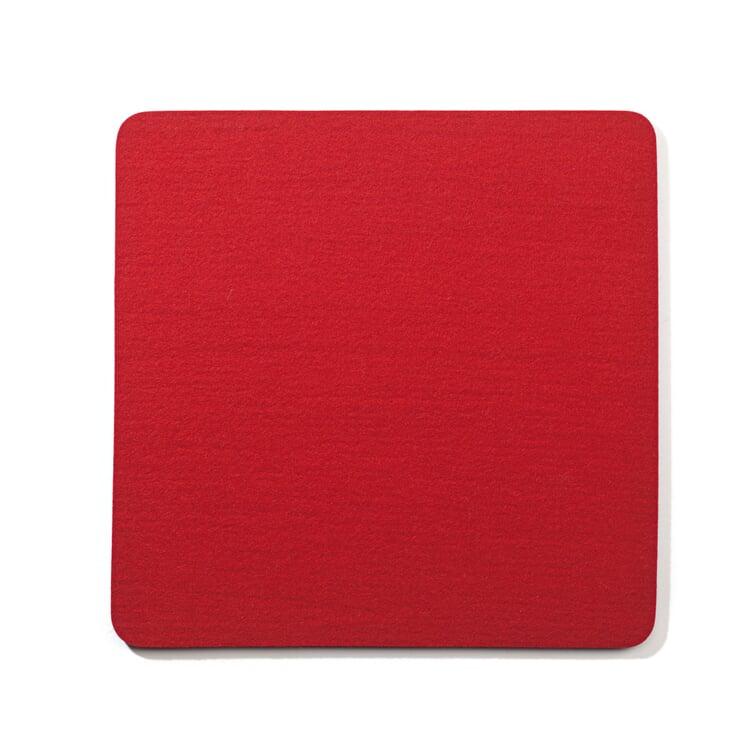 Sitzkissen Filz Quadrat Rot