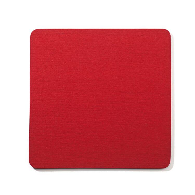 Sitzkissen Filz Quadrat, Rot