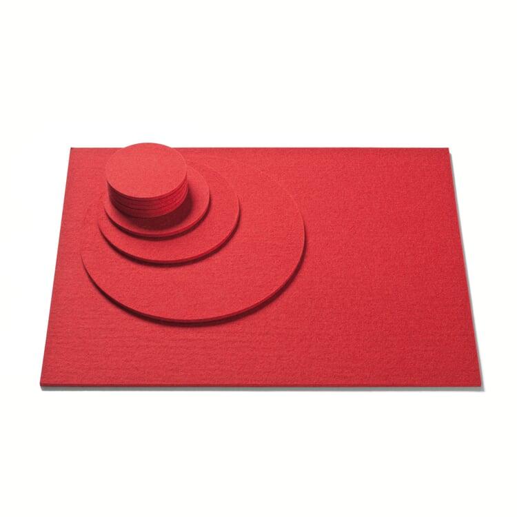 Untersetzer Filz Ø 25 cm Rot