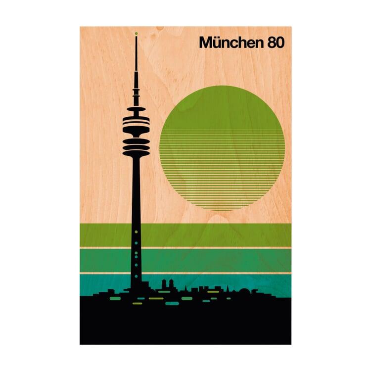 Postkarte Woodhi München 80