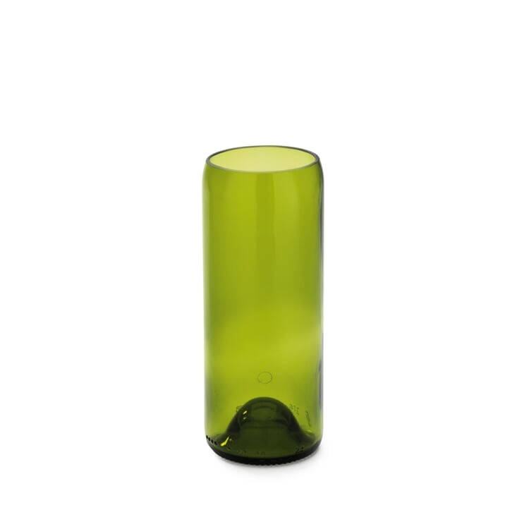 Vase Weinflasche Klein Smaragdgrün