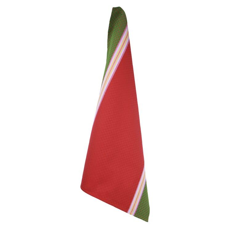 Geschirrtuch Karo, Rot / Grün