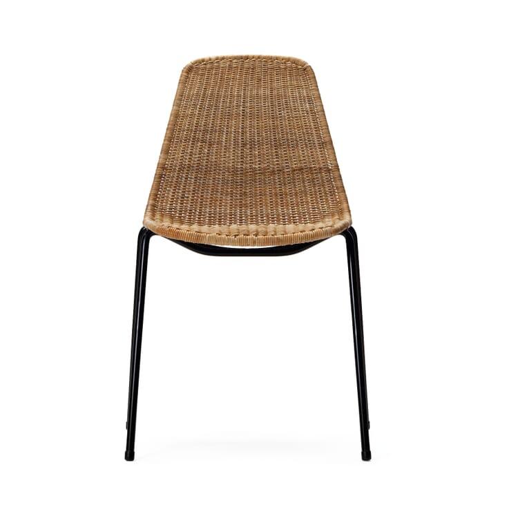Stuhl Basket, Schwarz / Natur