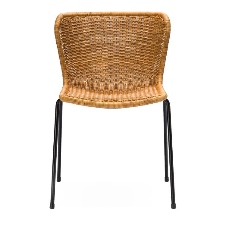Stuhl C603, Schwarz / Natur