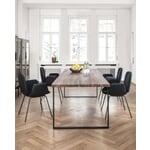 Tisch S 700 220 × 90 cm Nussbaum / Tiefschwarz RAL 9005