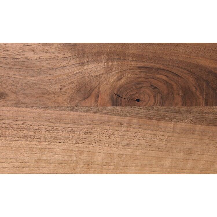 Tisch S 700 180 × 90 cm Nussbaum / Tiefschwarz RAL 9005