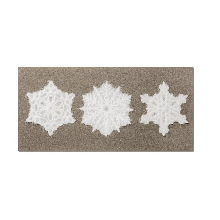Fensterschmuck Schneeflocke 3-teilig (Motiv 1)