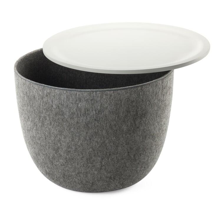 Beistelltisch Ronda Grau / Weiß