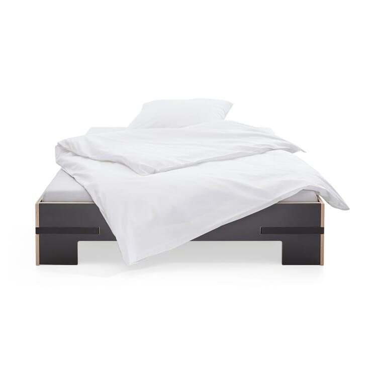 Bett Gurtbett schwarz, 140x200cm Gurte schwarz