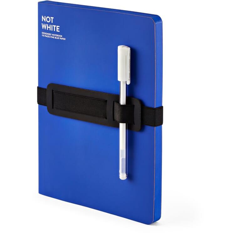 Notizbuch Not White, Blau
