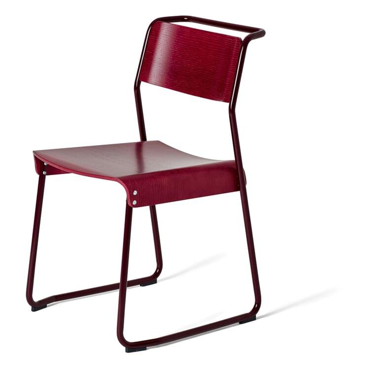 Stuhl Canteen, Schwarzrot RAL 3007