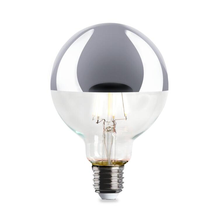 LED-Kopfspiegellampe Globe, Chrom
