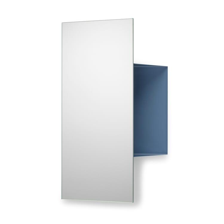 Spiegel und Ablage JANUS, Taubenblau RAL 5014
