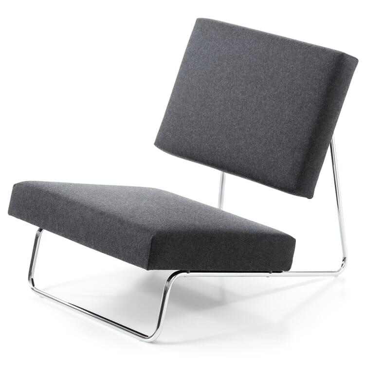 Sessel Lounge Chair Hirche, Chrom