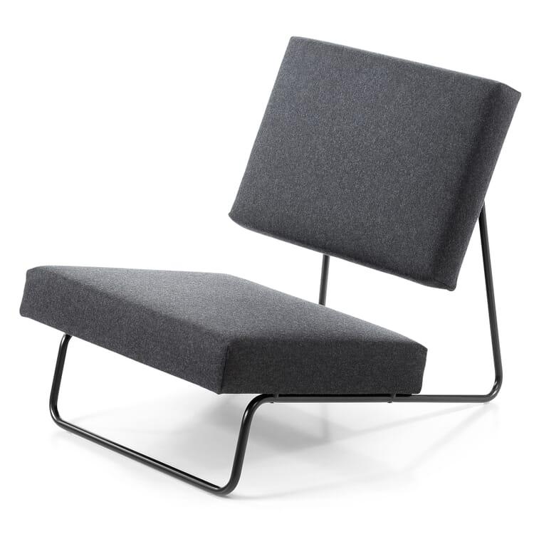 Sessel Lounge Chair Hirche, Tiefschwarz RAL 9005