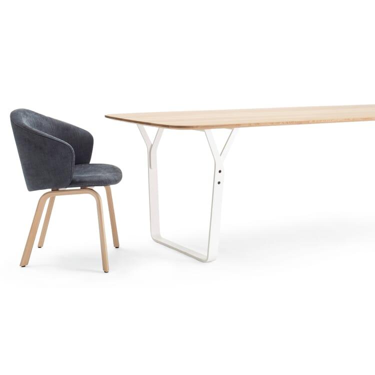Set Tisch + 4 Armlehnstühle