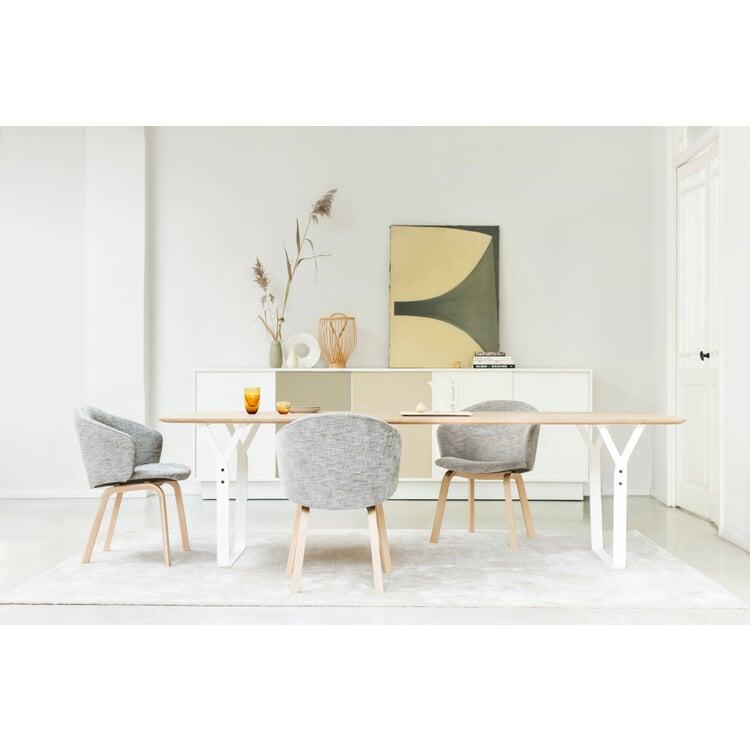 Tisch Essential Steel, Eiche, natur