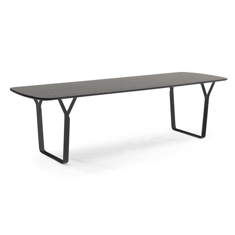 Tisch Essential Steel, Eiche, schwarz