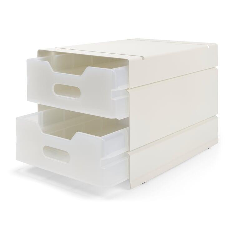 Container Atlas, 2-fach, Reinweiß RAL 9010