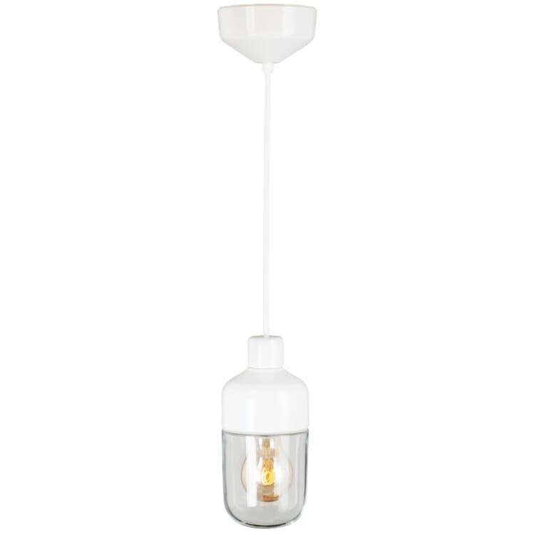 Pendelleuchte OHM 2, Weiß/Klarglas