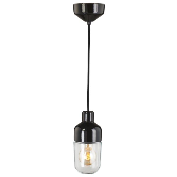Pendelleuchte OHM 2, Schwarz/Klarglas