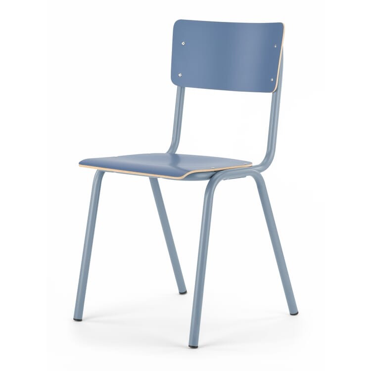 Stuhl Colegio, Blau / Taubenblau RAL 5014