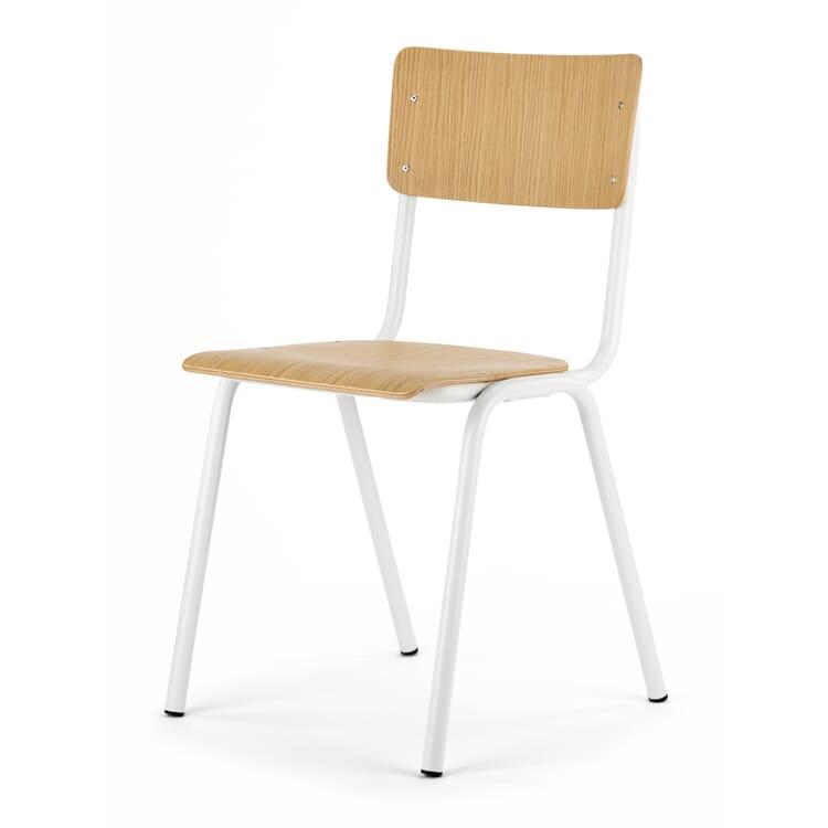 Stuhl Colegio, Eiche / Reinweiß RAL 9010