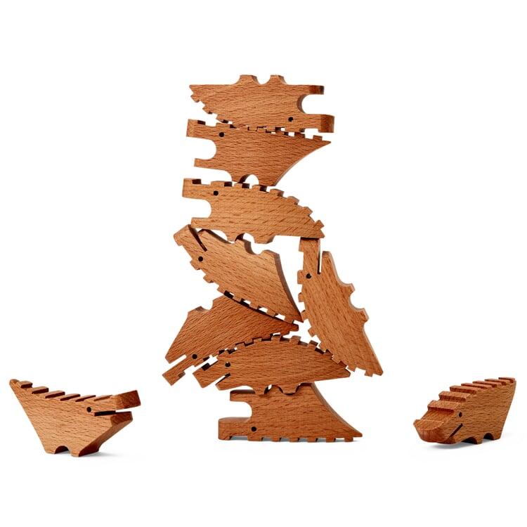 Holzfiguren Croc Pile Natur