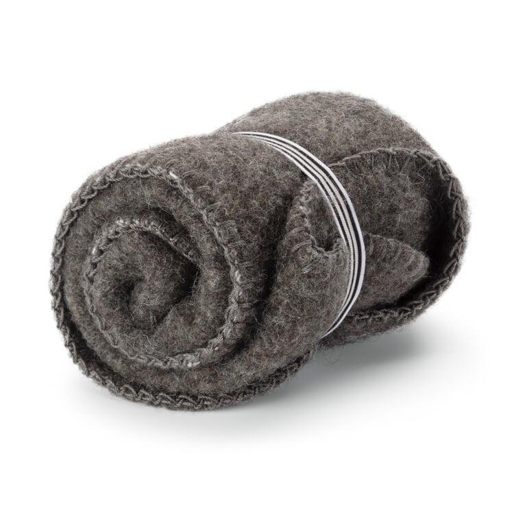 Sitzdecke Wolle Grau meliert